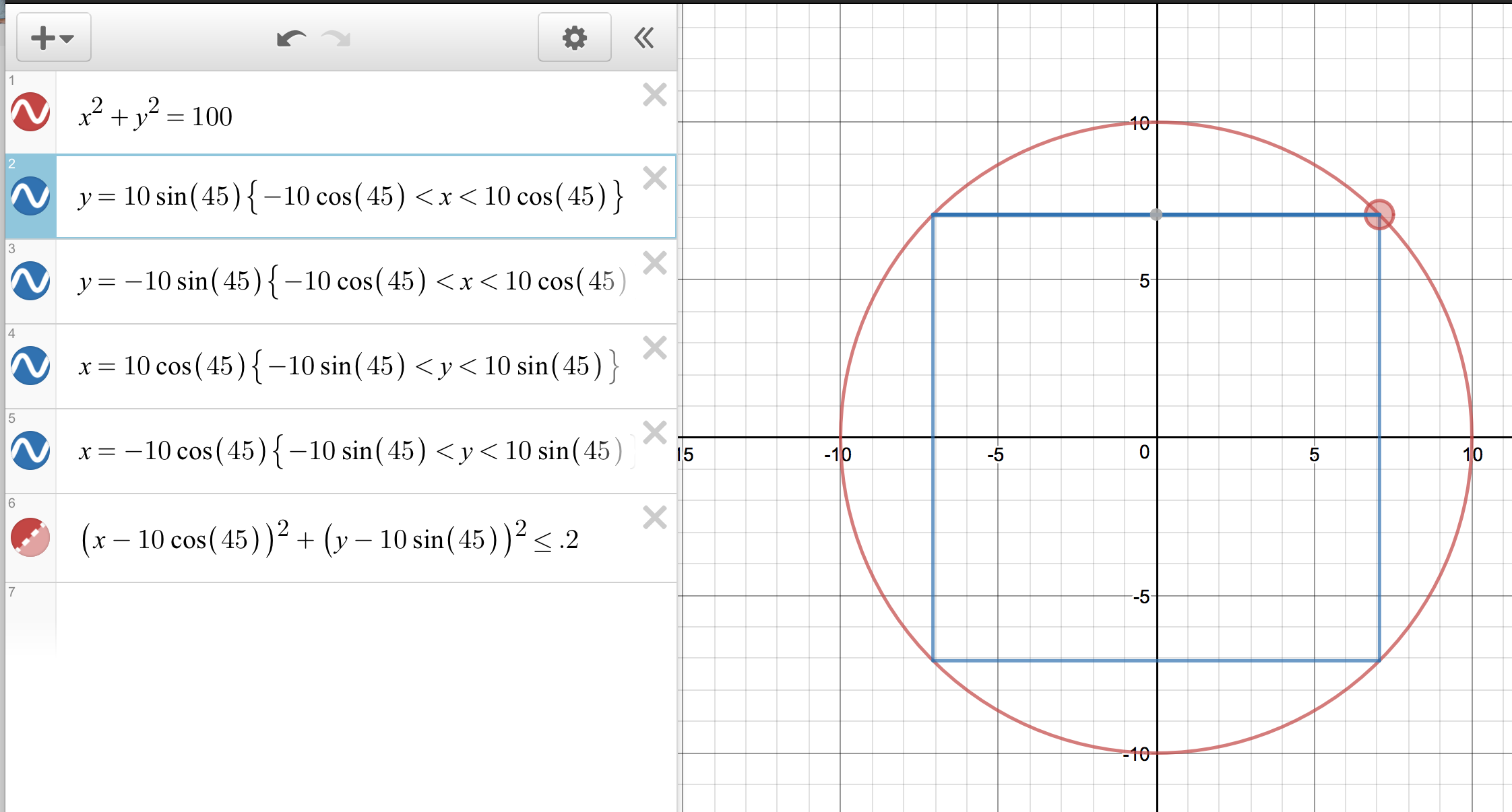 how to draw a line in desmos